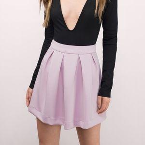 Lavender Pleated Skater Skirt